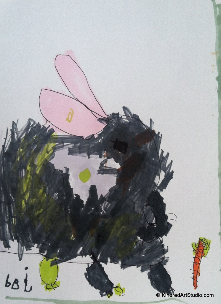 R is for Rabbit- Drawing through the Alphabet.