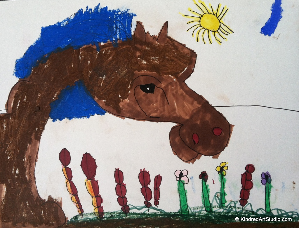 Drawn by a 4 year old.